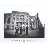 ''Yankee Boys, Yankee Stadium, Bronx NY'' by Corbis Archive Stadiums Art Print (16 x 20 in.)