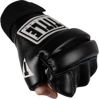 Title Boxing Padded Hook and Loop Leather Speed Bag Gloves - Black