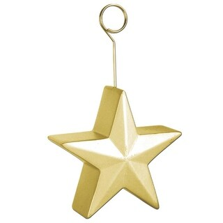 Pack of 6 Gold Awards Night Star Photo or Balloon Holder Party Decorations 6 oz.