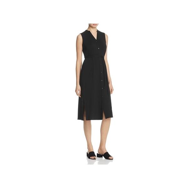 774e16b6213c4 Shop Eileen Fisher Womens Shirtdress Tencel Sleeveless - Free ...