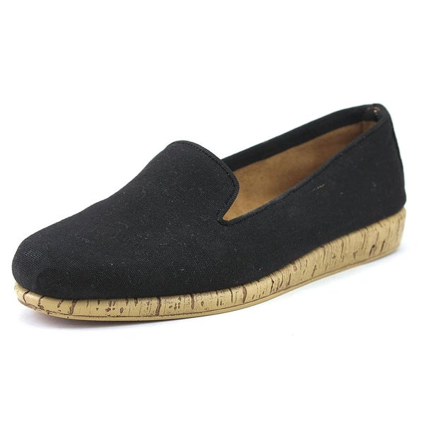 Aerosoles Sunscreen Women Round Toe Canvas Black Loafer
