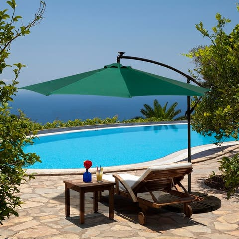 NUU Garden Outdoor Cantilever-Offset Sunshade Umbrella With LED Light Without Base