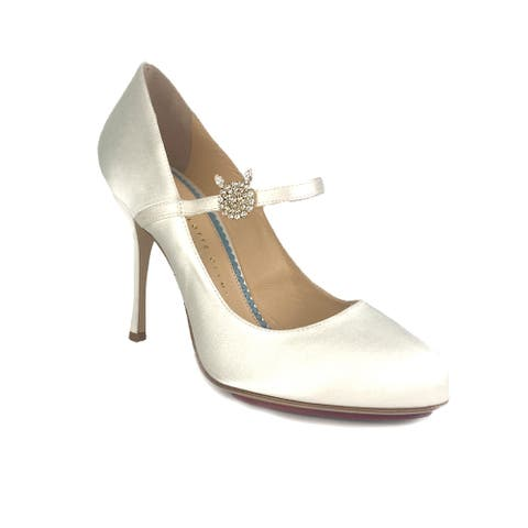 Charlotte Olympia Women's Mary Jane Satin High-heel Pumps Milk White