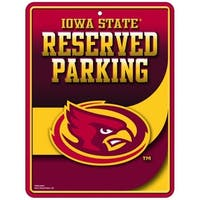 Iowa State Cyclones Metal Parking Sign