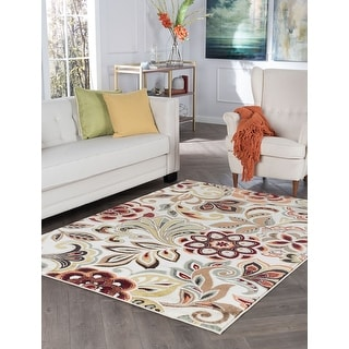 Link to Alise Rugs Decora Contemporary Floral Rug Similar Items in Shabby Chic Rugs