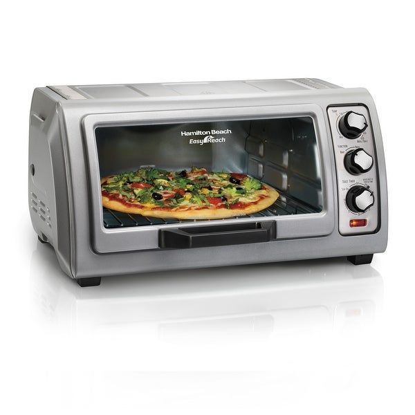 Hamilton Beach Easy Reach 6 Slice Toaster Oven with Roll-Top Door. Opens flyout.