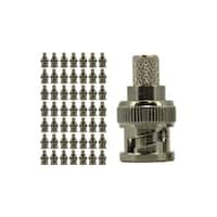 RG6 Crimp On BNC Connector, Copper, 50 pack