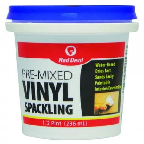 Red Devil 0532 Pre-Mixed Vinyl Spackling Compound, 1/2 Pint