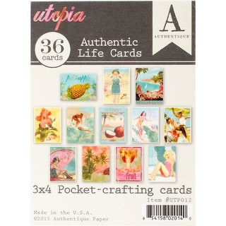 "Utopia Authentic Life Cards-Pocket Crafting & Journaling 3""X4"" Cards"