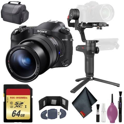 Sony Cyber-shot DSC-RX10 IV Camera - Zhiyun Stabilizer - 64GB - Case