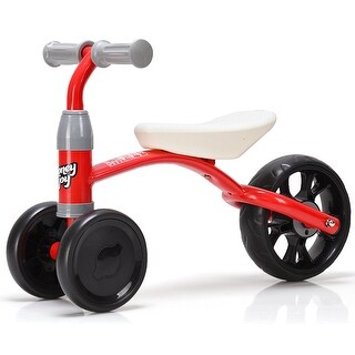 Costway 3 Wheels Kids Balance Bike Tricycle Toy Rides Baby Walker No Foot Pedal Red
