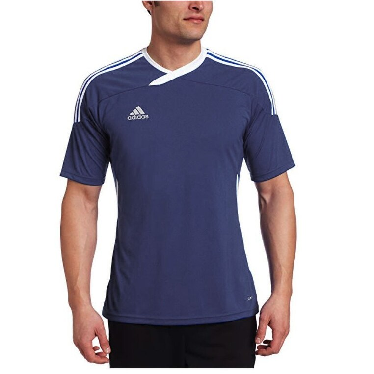 white and navy blue adidas shirt Shop Clothing & Shoes Online