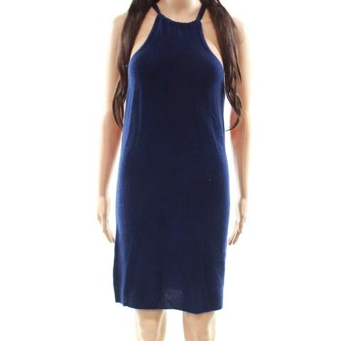 360 Cashmere NavyBlue Women's Medium Sweater Dress Cashmere