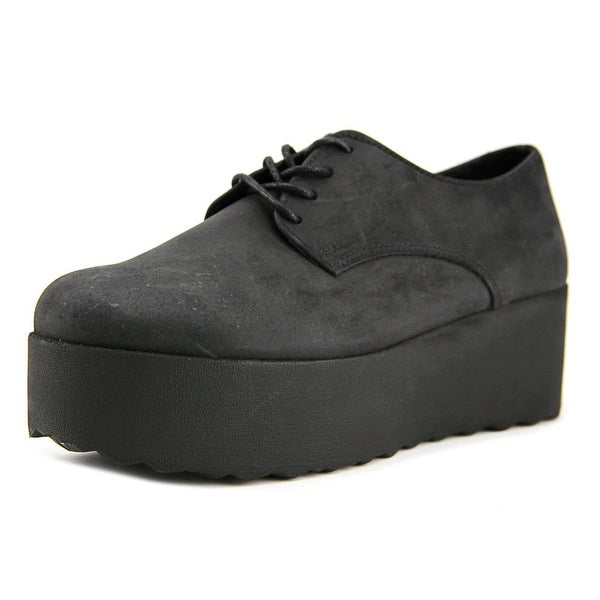Stiu Nobuckle Women Nero Oxfords