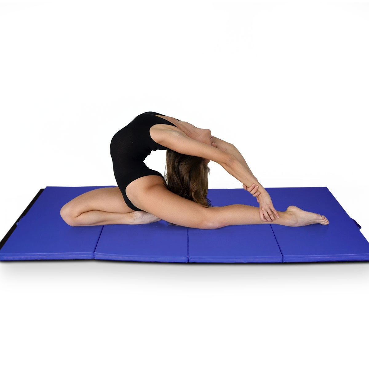"4/'x10/'x2/"" Gymnastics Mat Thick Folding Panel Yoga Gym Exercise Mat Fitness"