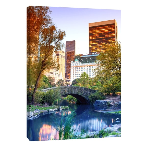 """PTM Images 9-108425 PTM Canvas Collection 10"""" x 8"""" - """"Central Park View"""" Giclee New York Art Print on Canvas"""