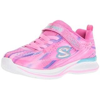 Skechers Kids Girls' Jumpin Jams-Dream Runner Sneaker, Pkmt, 9 Medium Us Toddler