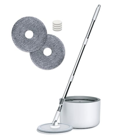 iMop Spin Mop and Bucket Floor Cleaning System with Patented Internal Water Filtration