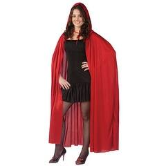 """Hooded Cape - 68"""" Red Vampire Costume Accessories - Standard - One Size"""