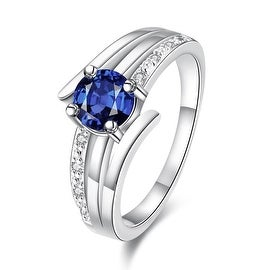 Duo-Petite Classical 3 Later Sapphire Ring