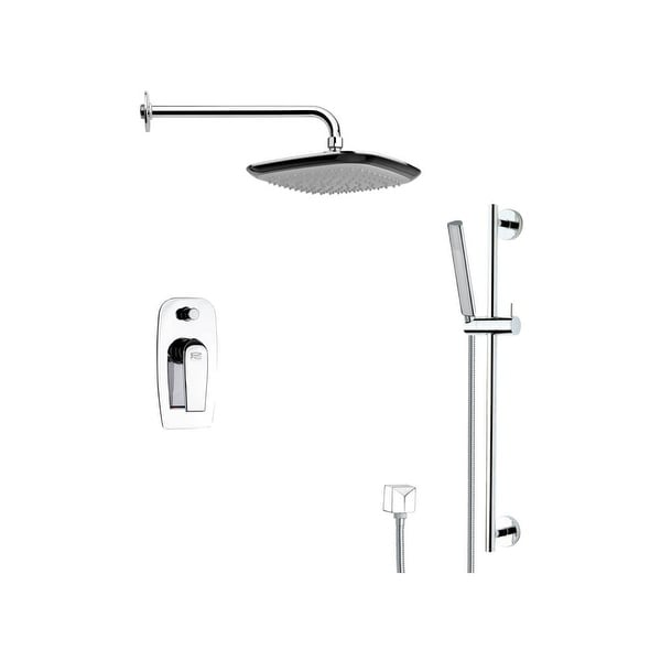 Nameeks SFR7113 Remer 2.5 GPM Multi Function Rain Shower with Handshower, Slide Bar and Rough In - Chrome
