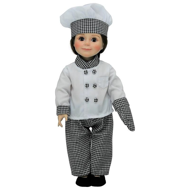 18 inch doll clothes Chef/'s Hat and apron with wooden spoon-Florida State