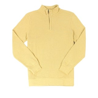 Tasso Elba NEW Yellow Honey Heather Mens Size 3XL 1/2 Zip Sweater