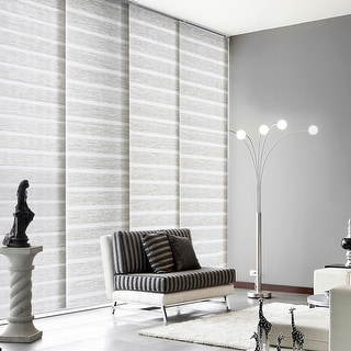 """Link to GoDear Design Natural Woven Adjustable Sliding Panel, Pleated Fabric, 45.8""""- 86"""" W x 96"""" L Similar Items in Window Treatments"""