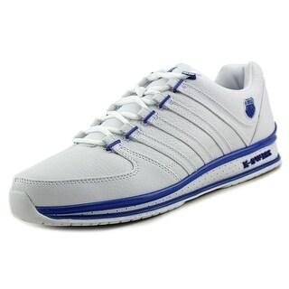 K-Swiss Rinzler Jewel Men Round Toe Leather White Sneakers
