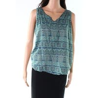 KUHL Blue Green Women's Size Small S Tie Front V-Neck Tank Top
