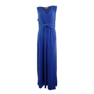 Ellen Tracy Women's Twist Front V-Neck Jersey Maxi Dress - s