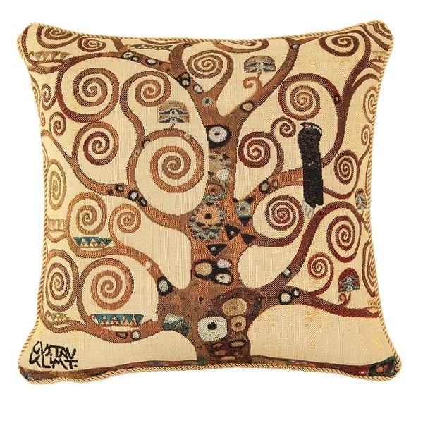 Fine Art Double-Sided Tapestry Square Throw Pillow Cover - Tree Of Life