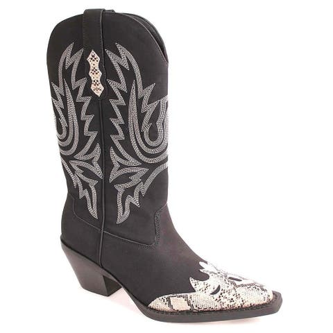 NOMAD Womens Square Toe Mid-Calf Cowboy Boots - 5