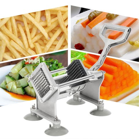 Vertical French Fry Cutter with 4Pcs Blades & 4Pcs Suction Cups & 2pcs Expansion Bolts