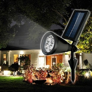 Bright Solar LED Rechargeable Waterproof Solar Powered Spotlight For Garden Pool Pond Yar & Duracell Solar Black Outdoor LED Spot Light - Free Shipping On ... azcodes.com