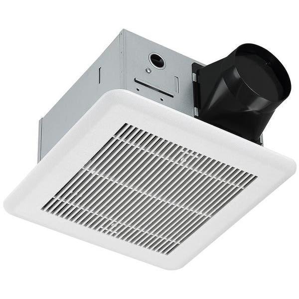 Ancona Roomside 110 Cfm 1 4 Sones Bathroom Exhaust Fan W Humidity Sensing Energy Star Overstock 32501189