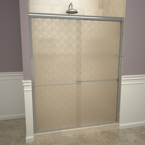 "Tile Redi 10ROLB06070 Redi Slide 70"" High x 60"" Wide Sliding Framed Shower Door with Frosted Glass"