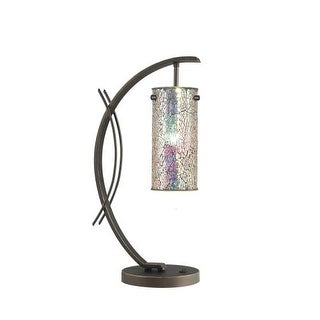 Woodbridge Lighting 13482MEB-M10IRI 1 Light Table Lamp from the Eclipse Collecti