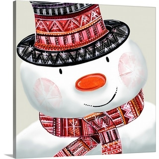 """Snowman"" Canvas Wall Art"