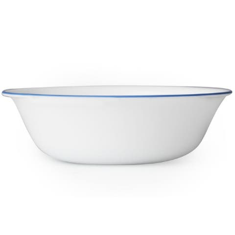 Corelle 1131320 Livingware Cornflower Soup/Cereal Bowl, Glass