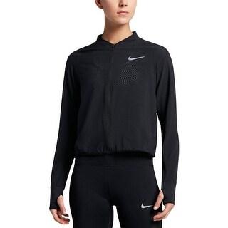Nike Womens Athletic Jacket Perforated Bomber
