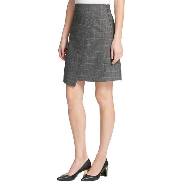 Dkny Womens Grid Asymmetrical Skirt. Opens flyout.