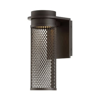 """WAC Lighting WS-W43712 Mesh Single Light 12"""" High Integrated LED Outdoor Wall Sconce"""