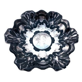 Lace 6.5 in. Black Silver Plate - Set of 4