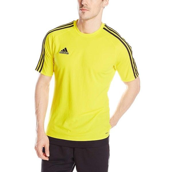 6949bea5e9a Shop Adidas Men's Estro 15 Jersey T-Shirt Yellow/White - Yellow ...