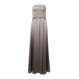 Lauren Ralph Lauren Women's Strapless Lace Crepe Dress
