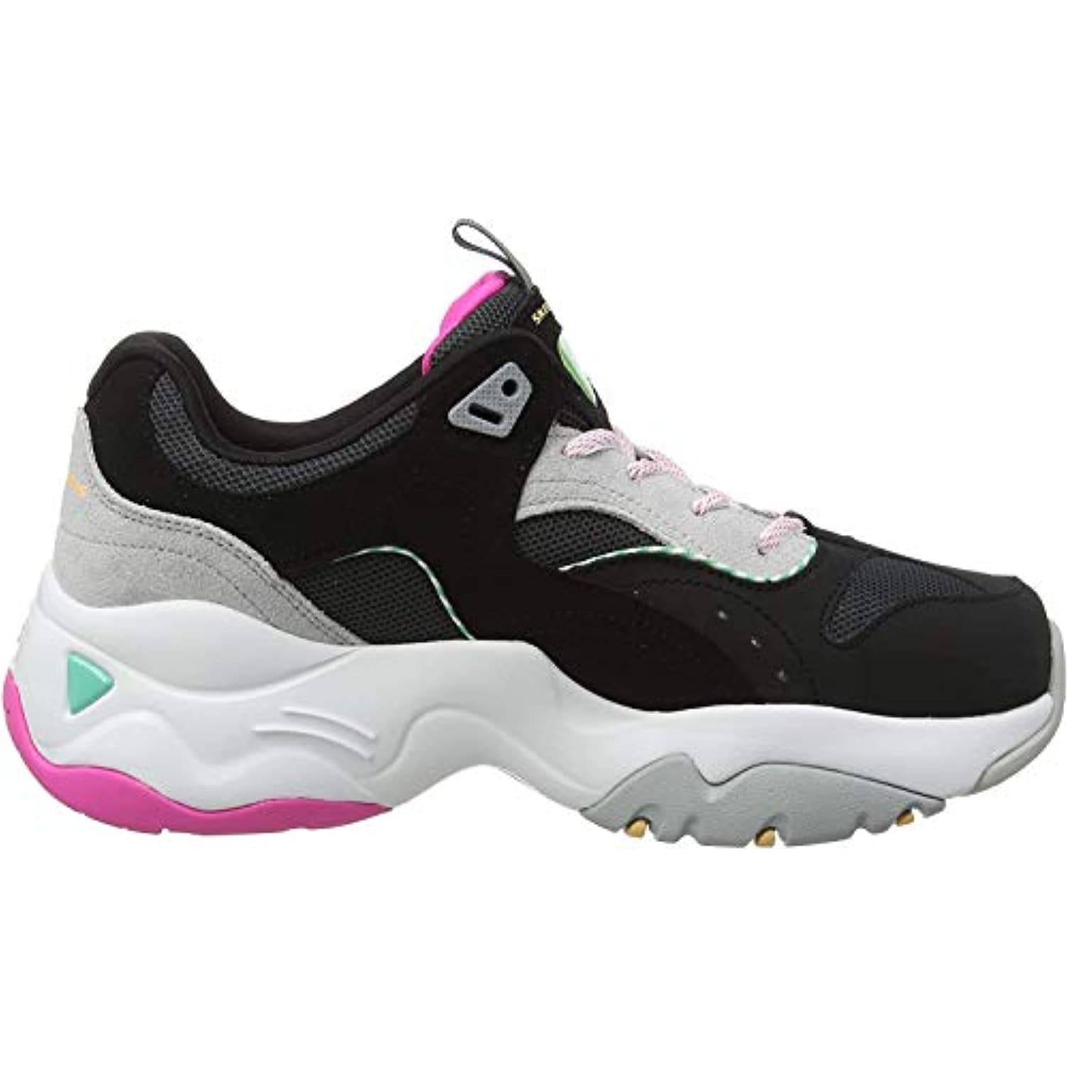 skechers trainers black and white