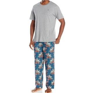 TOMMY BAHAMA NEW Gray Blue Mens Size XL Santa Beach Pajama Sets