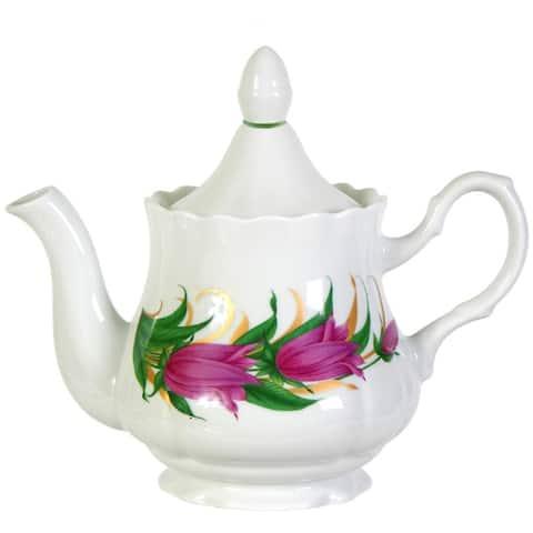 STP Goods Bellflowers 27-Oz Porcelain Teapot