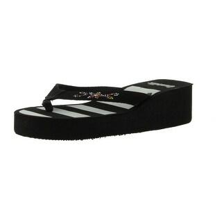Sunville Women's Fashion Flip Flops - 2337 stripe - 6 b(m) us